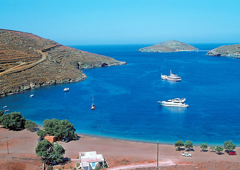 Tourist Guide of Greece Kythnos Beaches Hotels Greece Summer